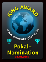 King Award Nominationsschild Animals Place