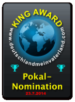 King Award Nominationsschild Deutschland mein Vaterland