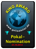 King Award Nominationsschild Gelis Atelier