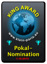 King Award Nominationsschild Klein-Paris