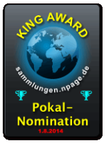 King Award Nominationsschild Sammlungen