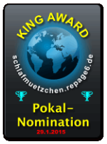 King Award Nominationsschild Schlafmützchen