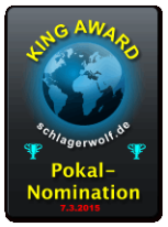 King Award Nominationsschild Schlagerwolf