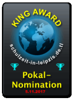 King Award Nominationsschild Schulzeit in Leipzig