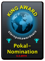 King Award Nominationsschild Sternpokal Awardverzeichnis