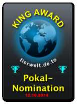 King Award Nominationsschild Tierwelt
