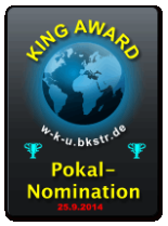 King Award Nominationsschild Wir kennen uns WKU